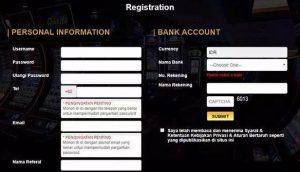 form daftar untuk judi online