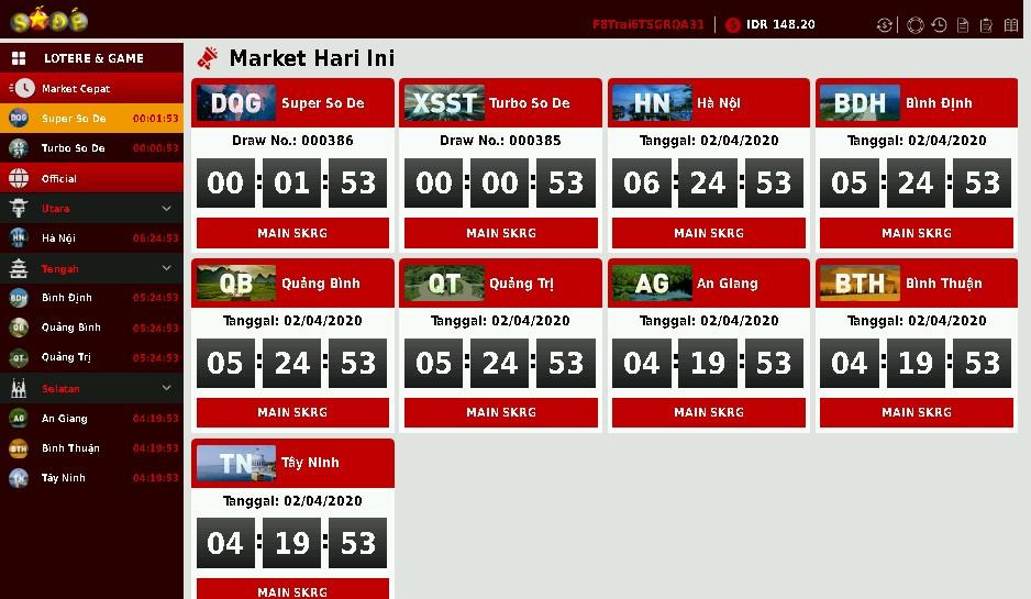 tampilan permainan sode lotre online